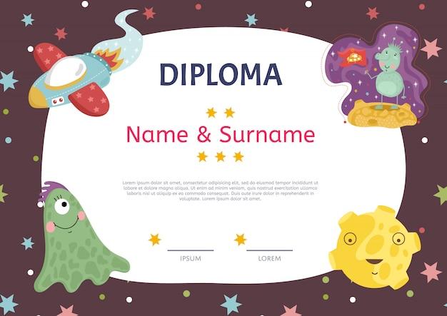 Modello del fumetto del diploma