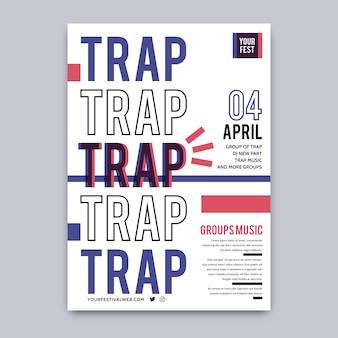 Modello del manifesto del festival della trappola