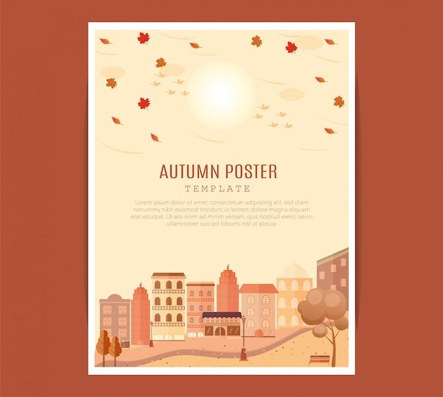 Modello del manifesto del festival di metà autunno