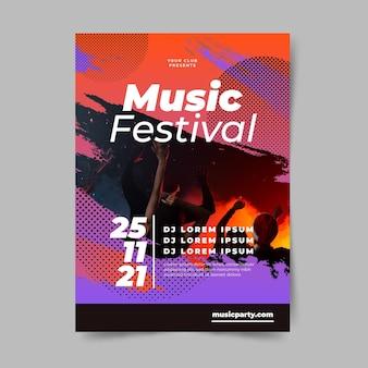 Modello del manifesto del festival musicale