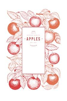 Modello del manifesto del ramo di mele.