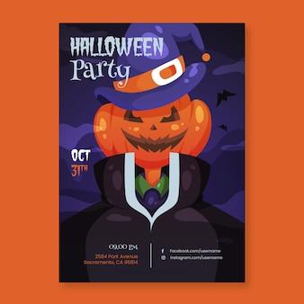 Modello del manifesto della festa di halloween