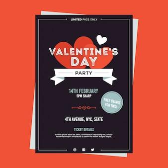 Modello del manifesto della festa di san valentino