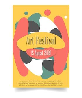 Modello del manifesto di art festival