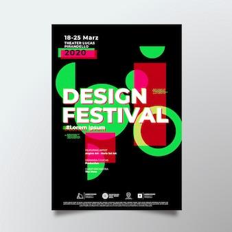 Modello del manifesto di design del festival