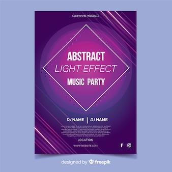 Modello del manifesto di musica astratta