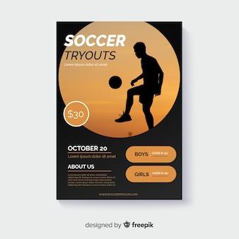 Modello del manifesto di sport con foto