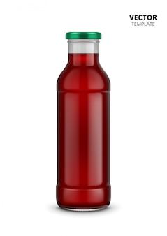Modello del vetro da bottiglia del succo isolato