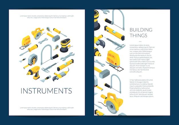 Modello dell'aletta di filatoio degli strumenti della costruzione di vettore