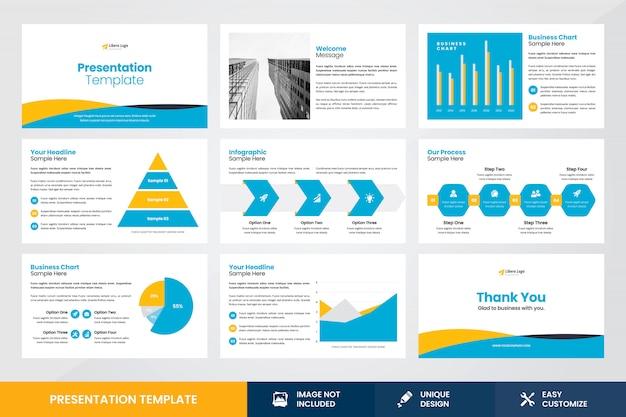 Modello dell'elemento di infographic di progettazione di presentazione di affari