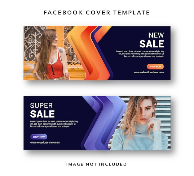 Modello dell'estratto della copertura di facebook dell'insegna di vendita di acquisto