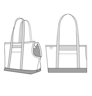 Modello dell'illustrazione di progettazione di vettore della borsa di tote