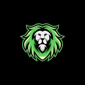 Modello dell'illustrazione di vettore di progettazione di logo del leone pronto per l'uso