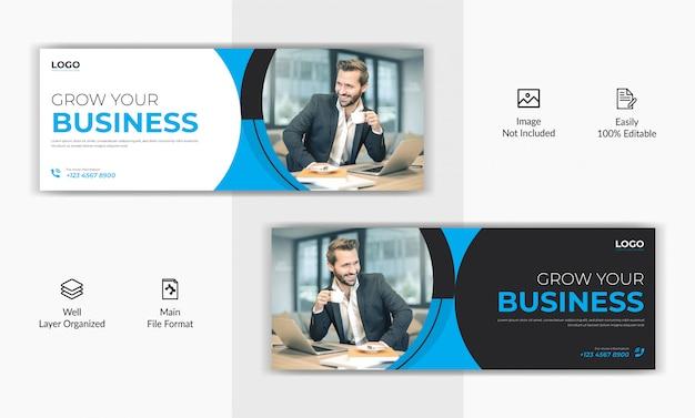 Modello dell'insegna dell'annuncio di web di cronologia della pagina di copertina di facebook dell'alberino dei media sociali di vendita di affari corporativi