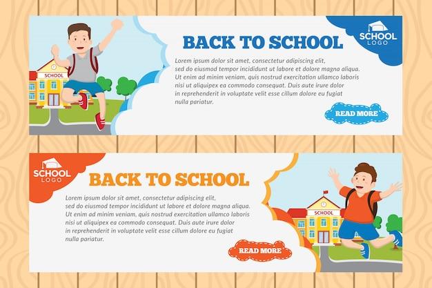 Modello dell'insegna di benvenuto di ritorno a scuola
