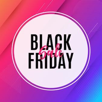 Modello dell'insegna di vendita di black friday