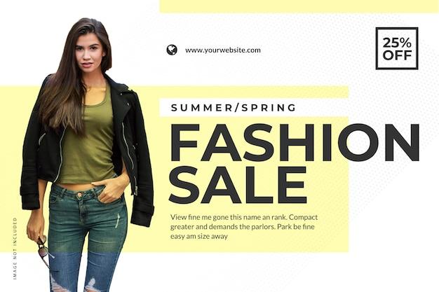 Modello dell'insegna di web di vendita della primavera di estate