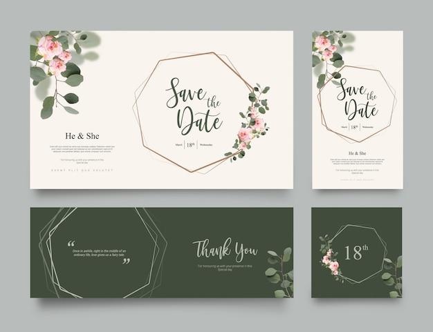 Modello dell'invito di nozze