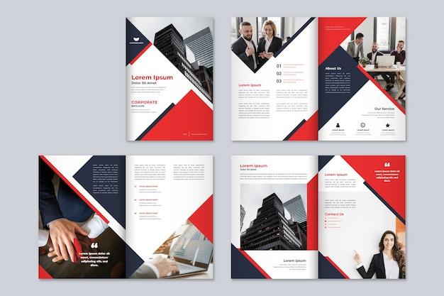 Modello dell'opuscolo di affari moderni