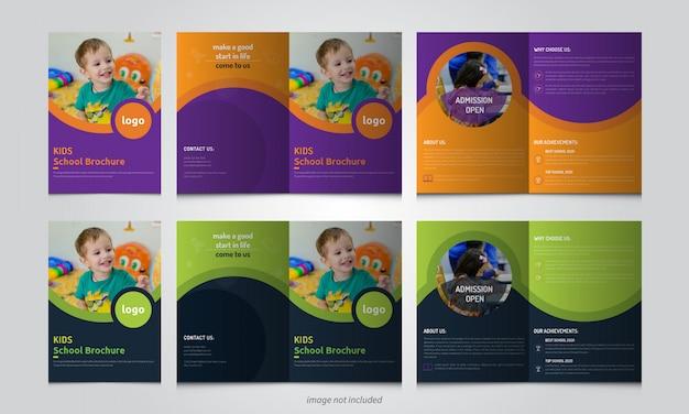 Modello dell'opuscolo di ammissione della scuola per bambini