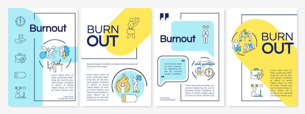 Modello dell'opuscolo di burnout