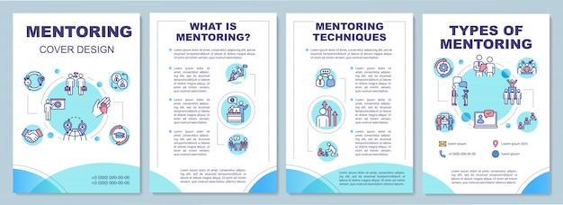 Modello dell'opuscolo di mentoring