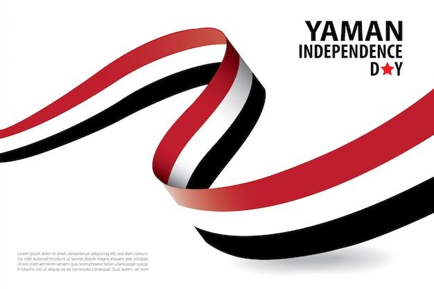 Modello della bandiera del fondo di giorno di indipendenza di yaman. yemen independence day