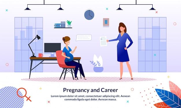 Modello della bandiera di carriera durante la gravidanza