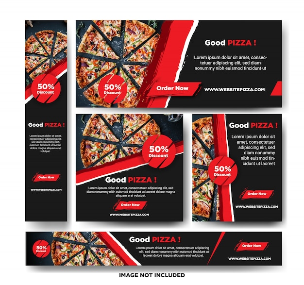 Modello della bandiera di promozione della pizza
