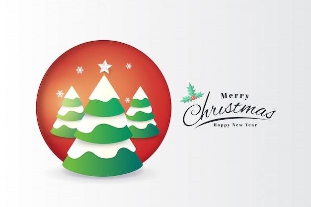 Modello della bandiera di tipografia della cartolina d'auguri di buon natale e felice anno nuovo
