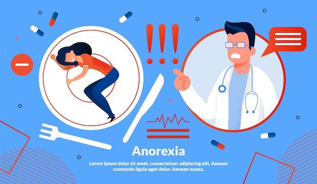 Modello della bandiera di trattamento di disturbo di anoressia
