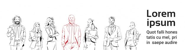 Modello della bandiera di uomini d'affari