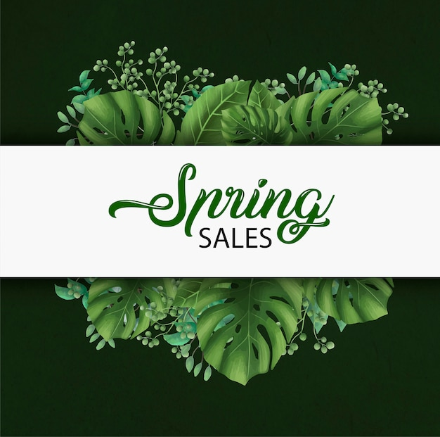 Modello della bandiera di vendite di primavera