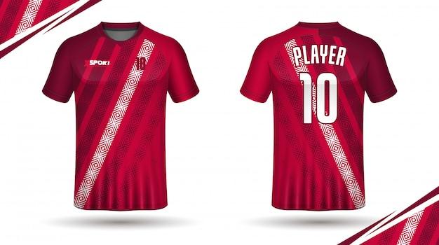 Modello della maglietta di sport del modello della maglia di calcio