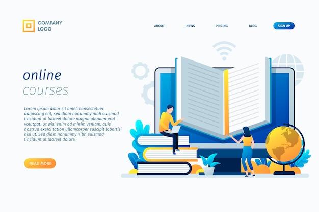 Modello della pagina di destinazione dei corsi online