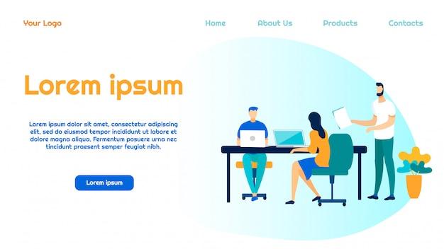 Modello della pagina di destinazione del servizio di ingegneria del software
