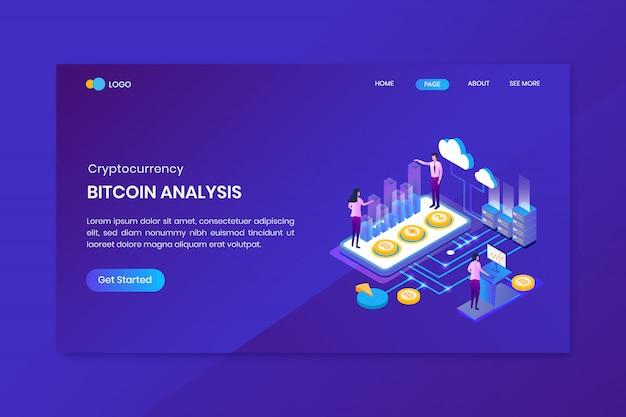 Modello della pagina di destinazione dell'analisi bitcoin