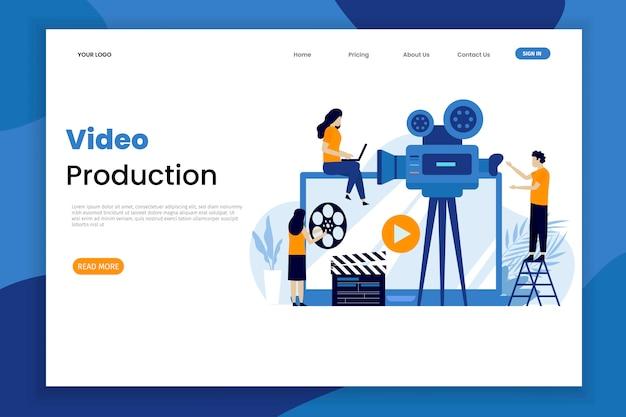 Modello della pagina di destinazione della produzione video