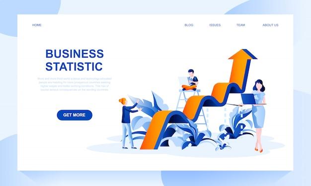 Modello della pagina di destinazione delle statistiche sulle imprese con intestazione