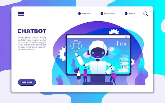 Modello della pagina di destinazione di chatbot