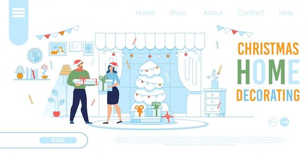 Modello della pagina di destinazione per lo shopping online di natale