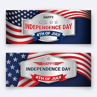 Modello delle bandiere di festa dell'indipendenza