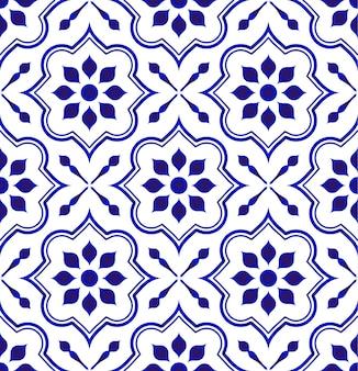 Modello delle mattonelle di ceramica, fondo decorativo della porcellana