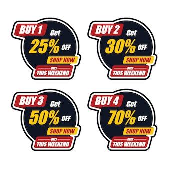 Modello di adesivo acquista speciale e gratis ottieni di più
