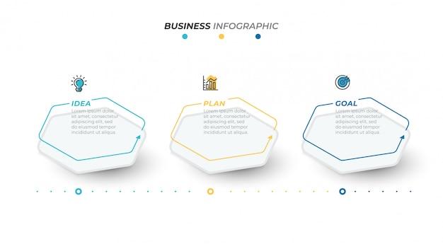 Modello di affari infografica