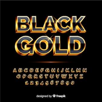 Modello di alfabeto d'oro