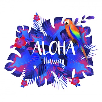 Modello di aloha hawaii party