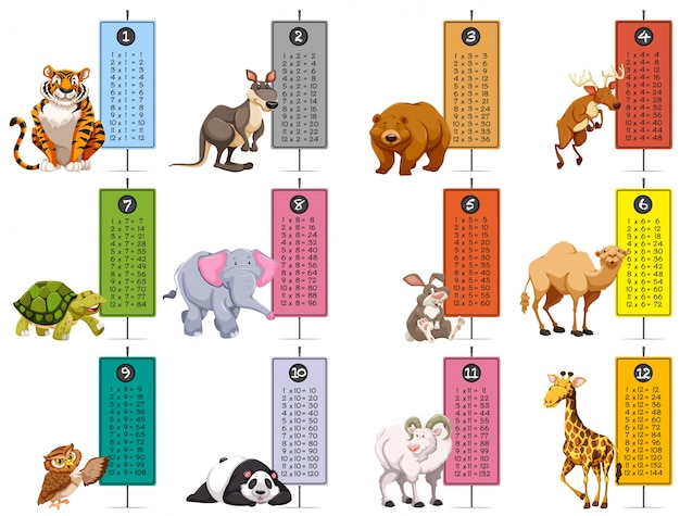 Modello di animali selvaggi e calendari