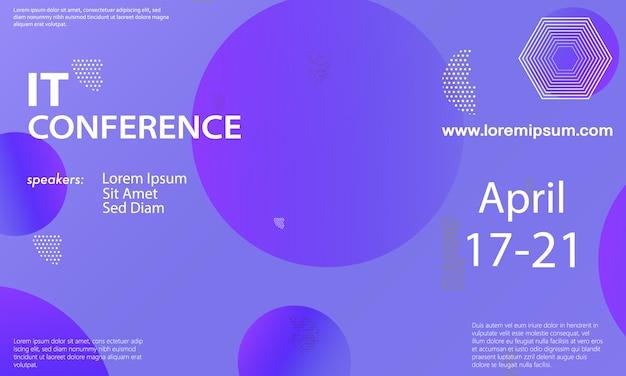 Modello di annuncio della conferenza