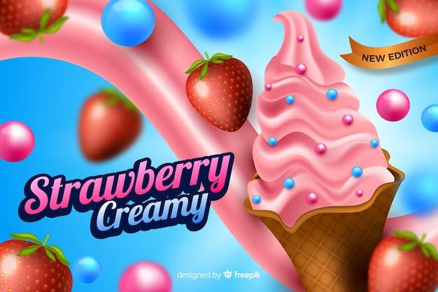 Modello di annuncio per gelato